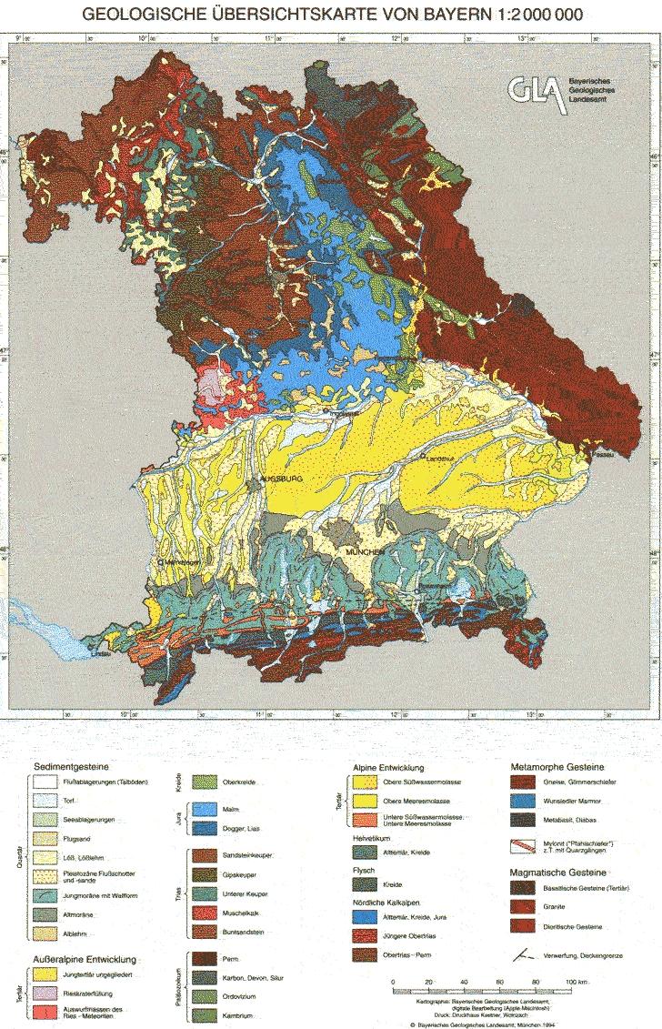 geologische karte bayern Übersichtskarten   LfU Bayern