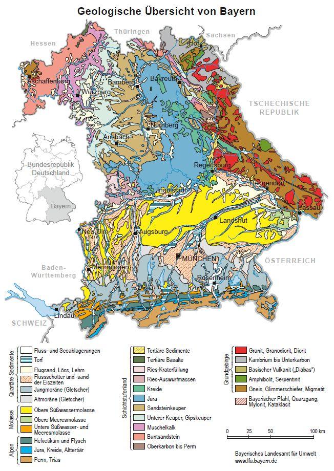 geologische karte bayern Geologischer Überblick Bayern   LfU Bayern