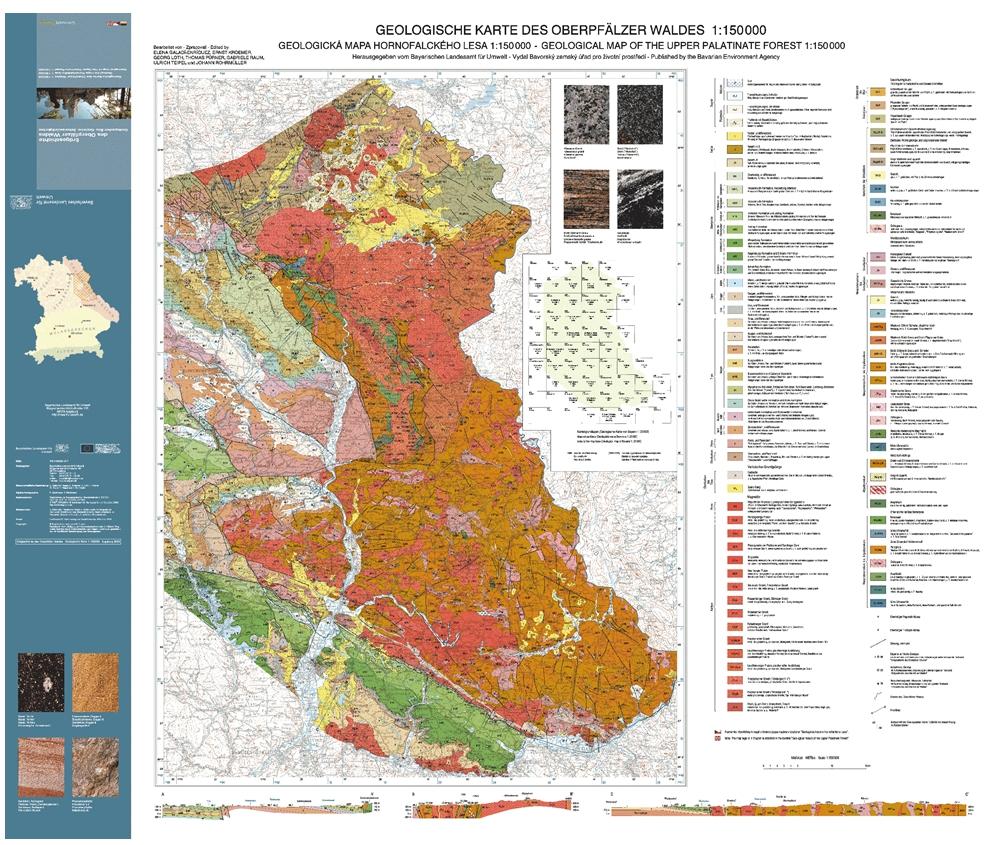 Karte Oberfranken Unterfranken Mittelfranken.Geotop Bucher Und Geotouristische Karten Lfu Bayern