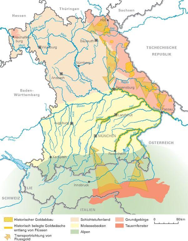 Goldene Geotope Auf Den Spuren Des Goldes Lfu Bayern