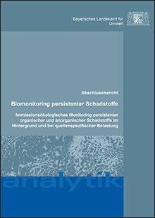 Titelbild zu: Biomonitoring persistenter Schadstoffe