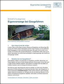 Titelbild zu: Eigenvorsorge bei Geogefahren