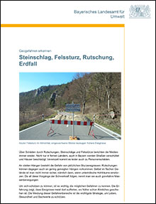 Titelbild zu: Steinschlag, Felssturz, Rutschung, Erdfall - Geogefahren erkennen