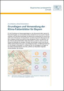 Titelbild zu: Grundlagen und Verwendung der Klima-Faktenblätter für Bayern