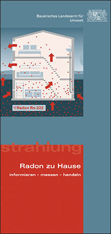Titelbild zu: Radon zu Hause - informieren - messen - handeln